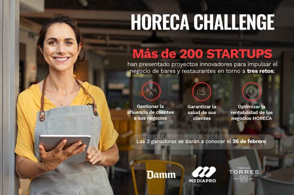 Mediapro, Damm y Familia Torres anuncian las startups finalistas de Horeca Challenge