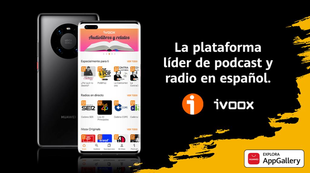 iVoox, líder del podcast en español, se incorpora a HUAWEI AppGallery para promocionar el consumo de podcasts